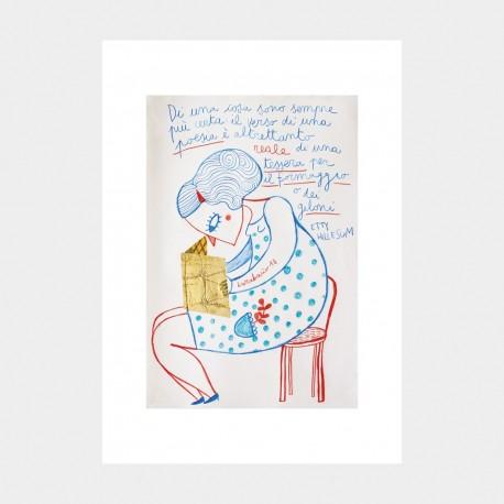 Poesia | Ciclo Etty Hillesum | Stampa Burabacio