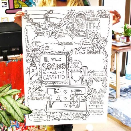Sogni nel cassetto   Poster da colorare
