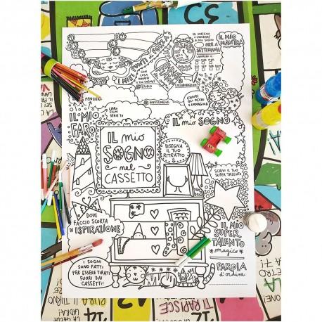 Il mio sogno nel cassetto | Maxi poster da colorare