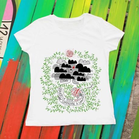 La testa e il cuore | T-shirt donna Burabacio
