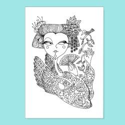Geisha | Stampa