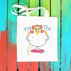 Ten Ten Ten  | Borsa shopper in cotone