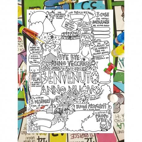 Benvenuto Anno Nuovo | Poster da colorare