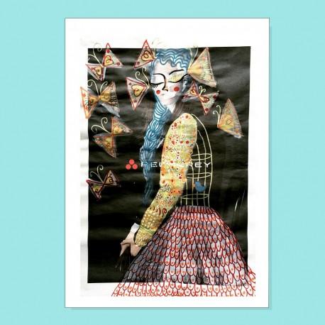 Io sono gabbia e farfalle | Ciclo Donne di Carta | Stampa