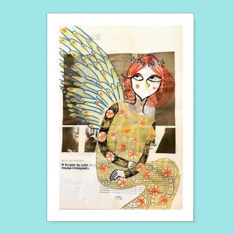 Io sono un angelo | Ciclo Donne di Carta | Stampa