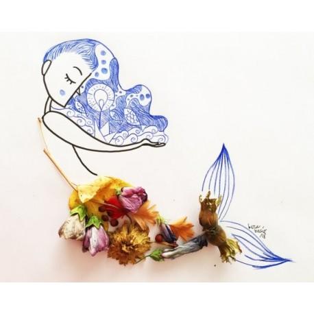 Sirena fiorita | Stampe | Burabacio