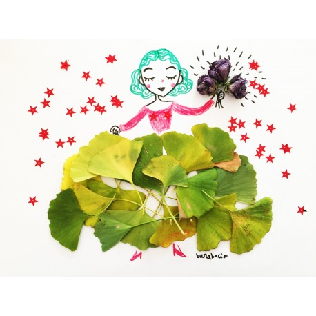 La ballerina di ginko | Stampe | Burabacio