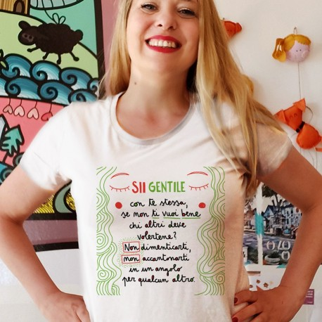 Sii Gentile con te stessa   T-shirt donna