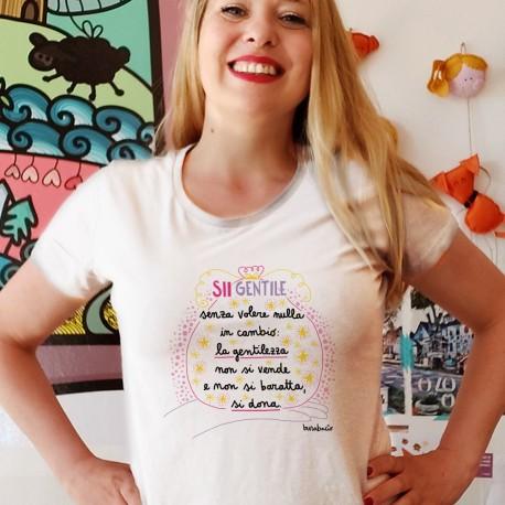 Sii gentile senza voler nulla in cambio | T-shirt donna Burabacio