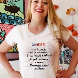 Sii gentile con il cuore delle persone | T-shirt