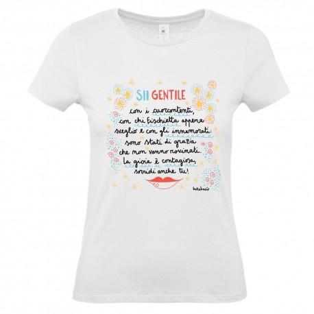 Sii gentile con i cuorcontenti | T-shirt donna