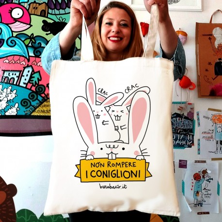 Non rompere i coniglioni | Shopper Burabacio