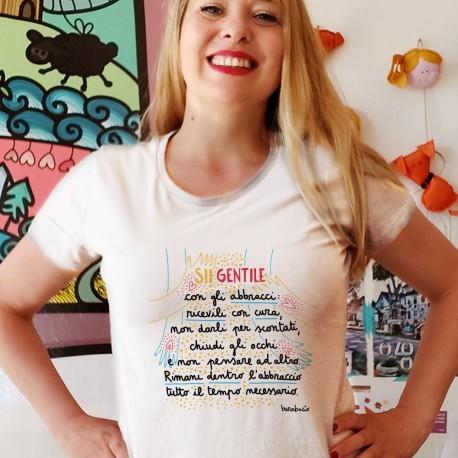 Sii gentile con gli abbracci | T-shirt donna
