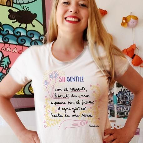 Sii gentile con il presente   T-shirt donna