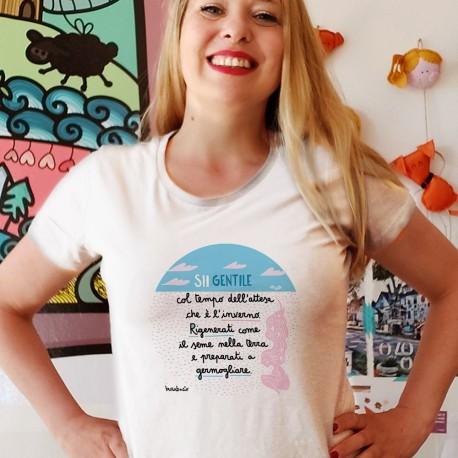 Sii gentile con il tempo dell'attesa | T-shirt donna