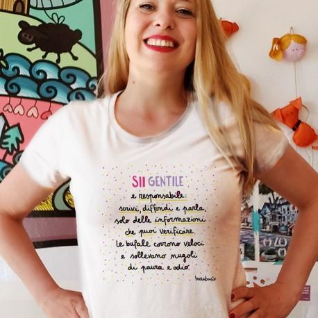 Sii gentile e responsabile | T-shirt donna