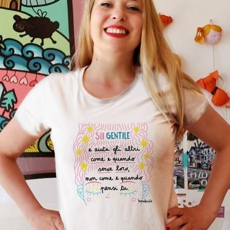Sii gentile e aiuta gli altri   T-shirt donna