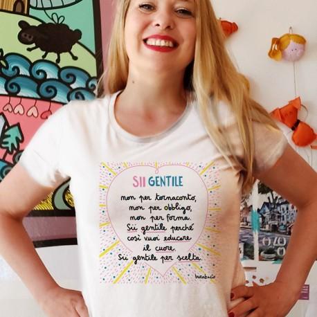 Sii gentile non per obbligo   T-shirt donna