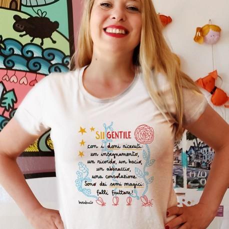 Sii gentile con i doni ricevuti | T-shirt donna