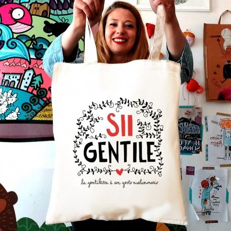 Sii gentile | Borsa shopper in cotone