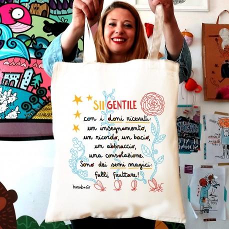 Sii gentile con i doni ricevuti | Borsa shopper in cotone