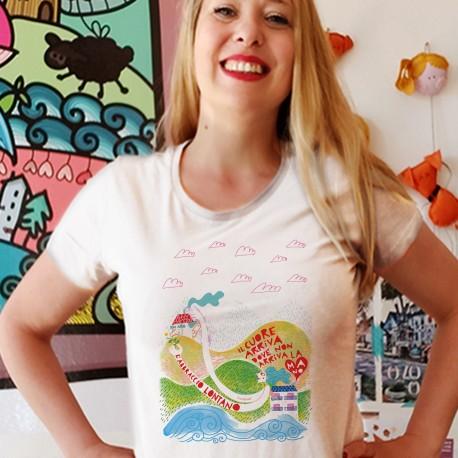 Abbraccio lontano   T-shirt donna