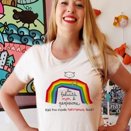 La felicità non è perfezione | T-shirt donna Burabacio
