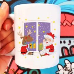 Babbo Natale e la Renna | Tazza colazione