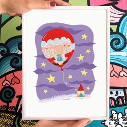 Babbo Natale palloncino | Stampa