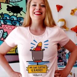 Mi hai cotto il razzo | T-shirt donna Burabacio