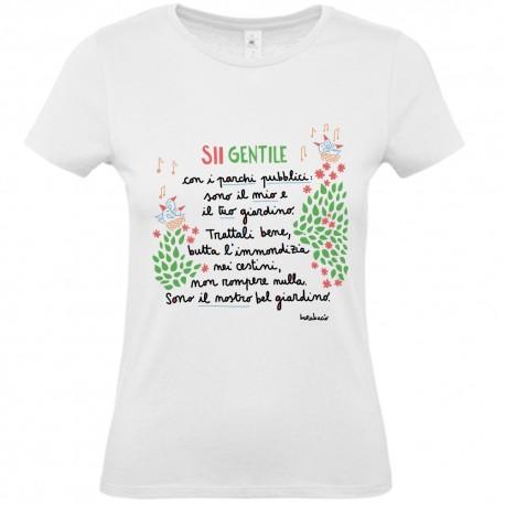 Sii gentile con i parchi pubblici   T-shirt donna