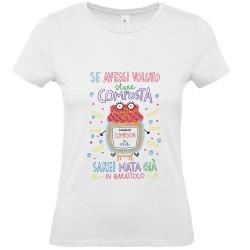 Composta | T-shirt donna Burabacio