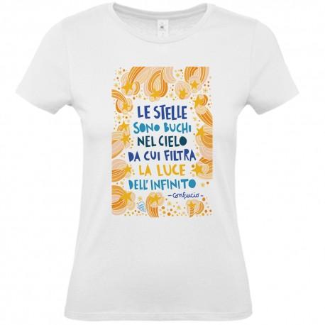 Le stelle sono buchi (Confucio)   T-shirt donna Burabacio