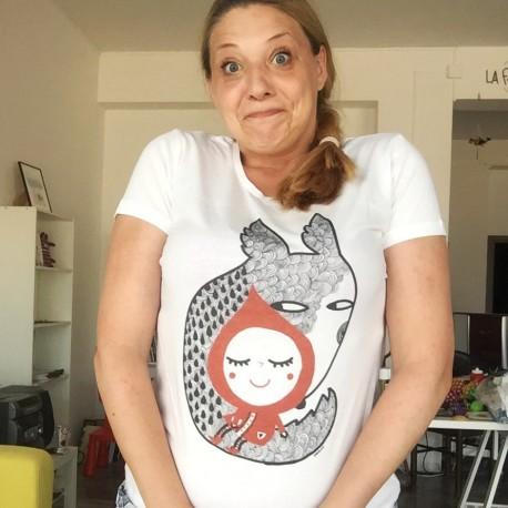 Cappuccetto Rosso e il Lupo | T-shirt da donna | Burabacio