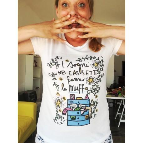 Sogni nel cassetto | T-shirt da donna | Burabacio