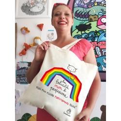 Felicità non è perfezione | Borsa shopper in cotone