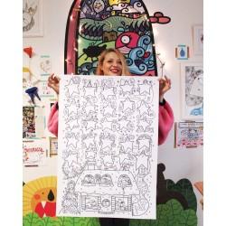 Calendario dell'Avvento gentile | Poster da colorare
