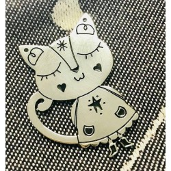 Amor Gatto | Ciondolo in acciaio
