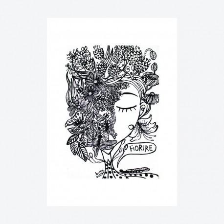 Fiorire | Ciclo Etty Hillesum | Stampa Burabacio